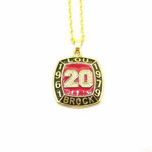 USA Hall of Fame Lou Brock Pendant Necklace
